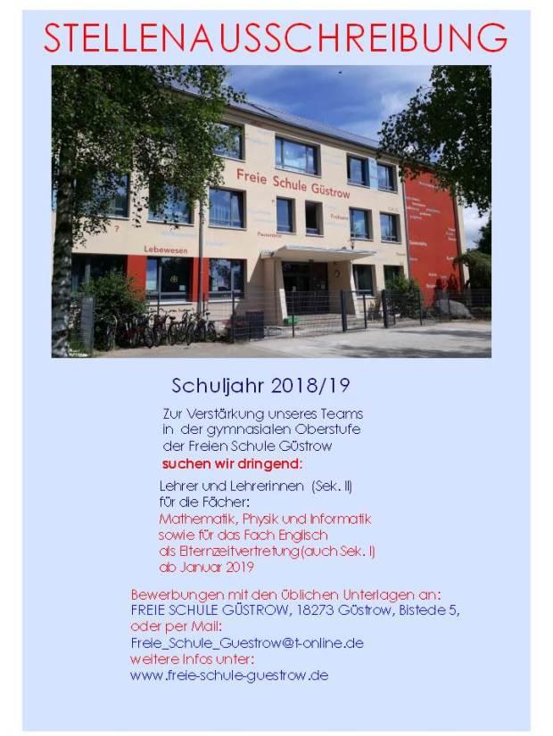 Stellenausschreibung 2018-2019 neu